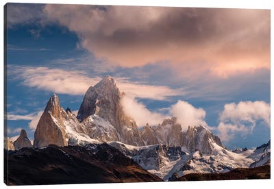 Argentina, Patagonia. Fitz Roy Canvas Art Print