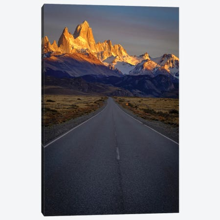 Argentina, Patagonia. Fitz Roy, Highway Canvas Print #GTH43} by George Theodore Art Print