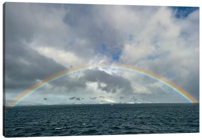 Antarctica, full rainbow, Gerlach Strait Canvas Art Print