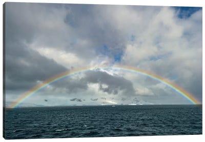 Antarctica, full rainbow, Gerlach Strait Canvas Art Print