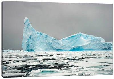 Antarctica, Iceberg, Blue Ice Canvas Art Print