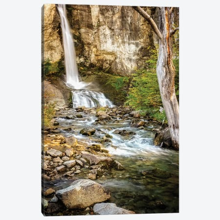 Argentina, El Chalten, Patagonia, Los Glaciares, waterfall Canvas Print #GTH9} by George Theodore Canvas Art