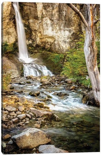 Argentina, El Chalten, Patagonia, Los Glaciares, waterfall Canvas Art Print