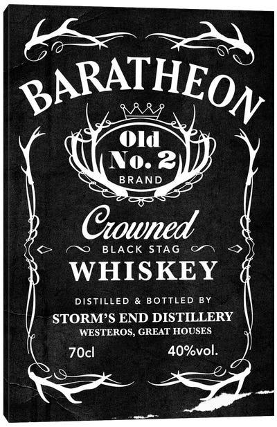 Baratheon Black Stag Whiskey Canvas Print #GTL1