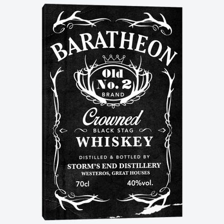 Baratheon Black Stag Whiskey Canvas Print #GTL1} by 5by5collective Canvas Art