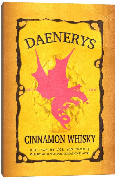 Daenerys Cinnamon Whisky Canvas Art Print