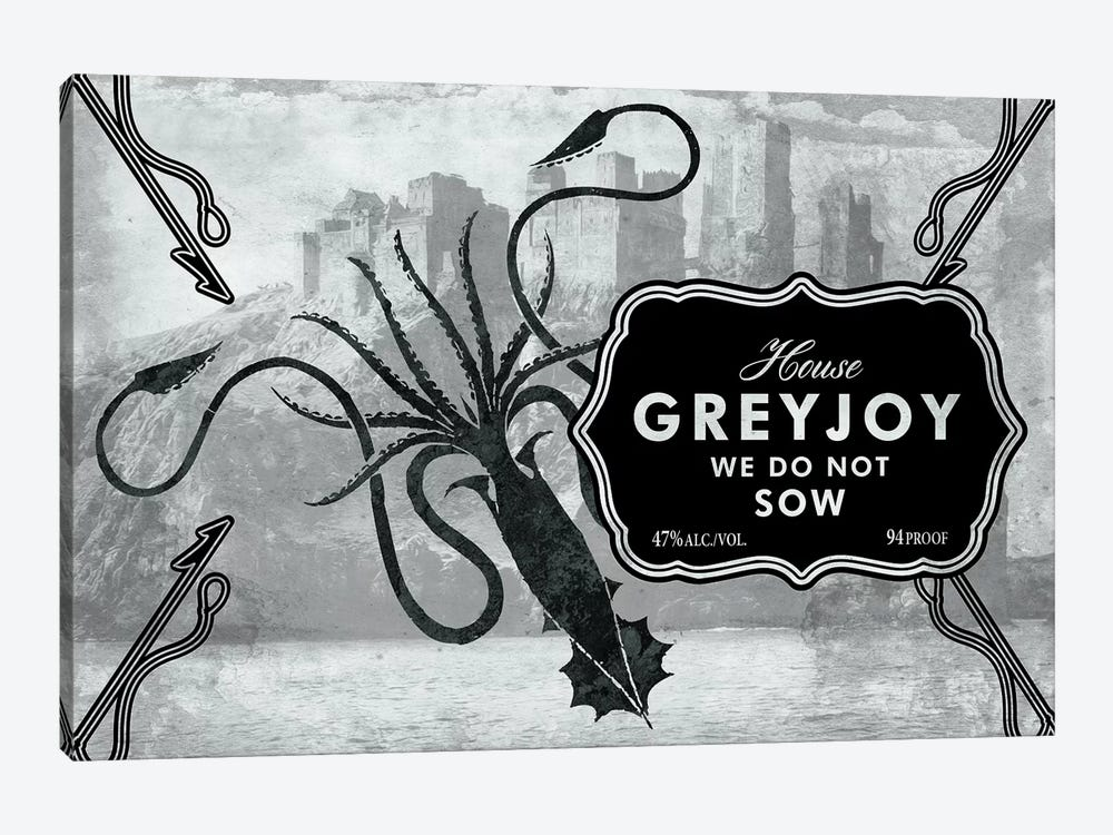 Greyjoy Rum by 5by5collective 1-piece Canvas Art Print