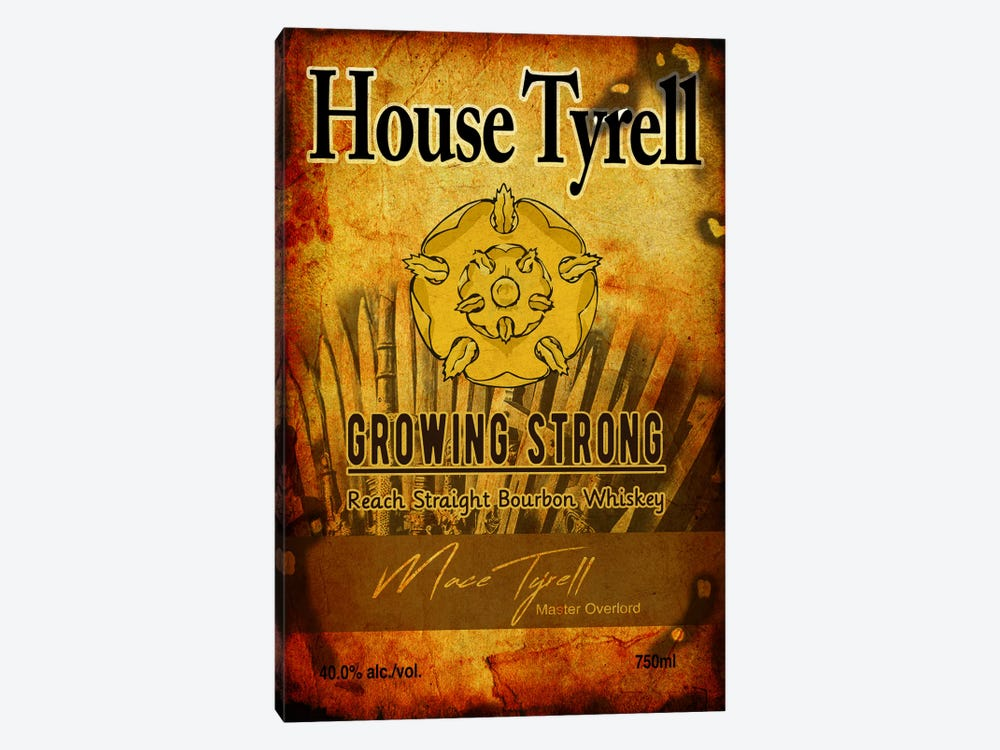 House Tyrell Bourbon by 5by5collective 1-piece Canvas Art