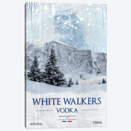 White Walker Vodka Canvas Print #GTL6} by 5by5collective Canvas Art Print