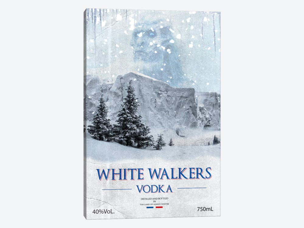 White Walker Vodka by 5by5collective 1-piece Canvas Print