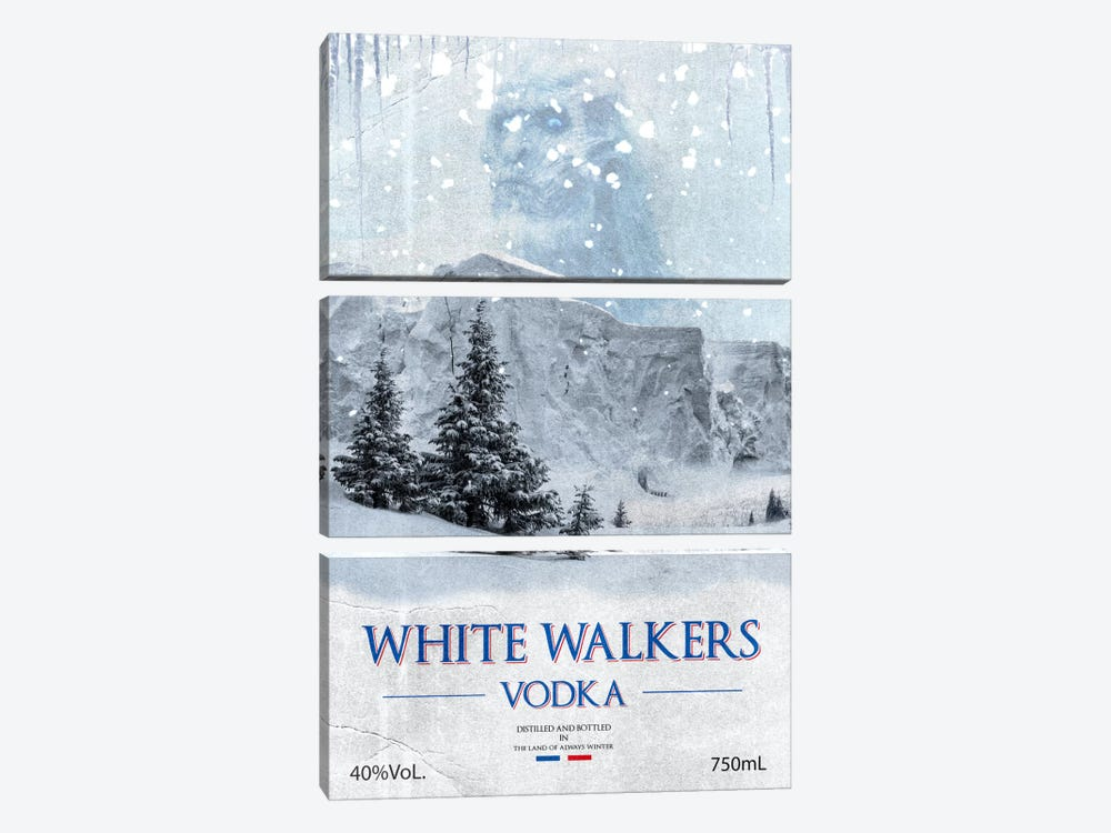 White Walker Vodka by 5by5collective 3-piece Art Print