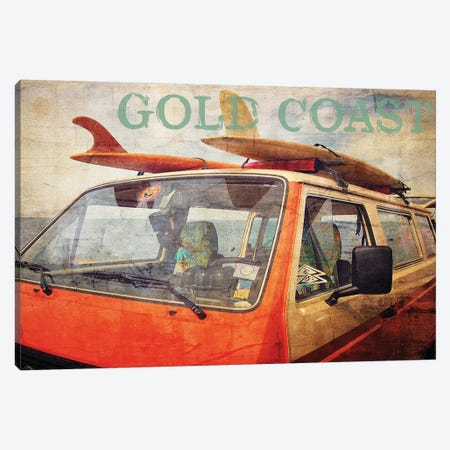 Gold Coast Surf Bus Canvas Print #GTS10} by Graffi*Tee Studios Canvas Print