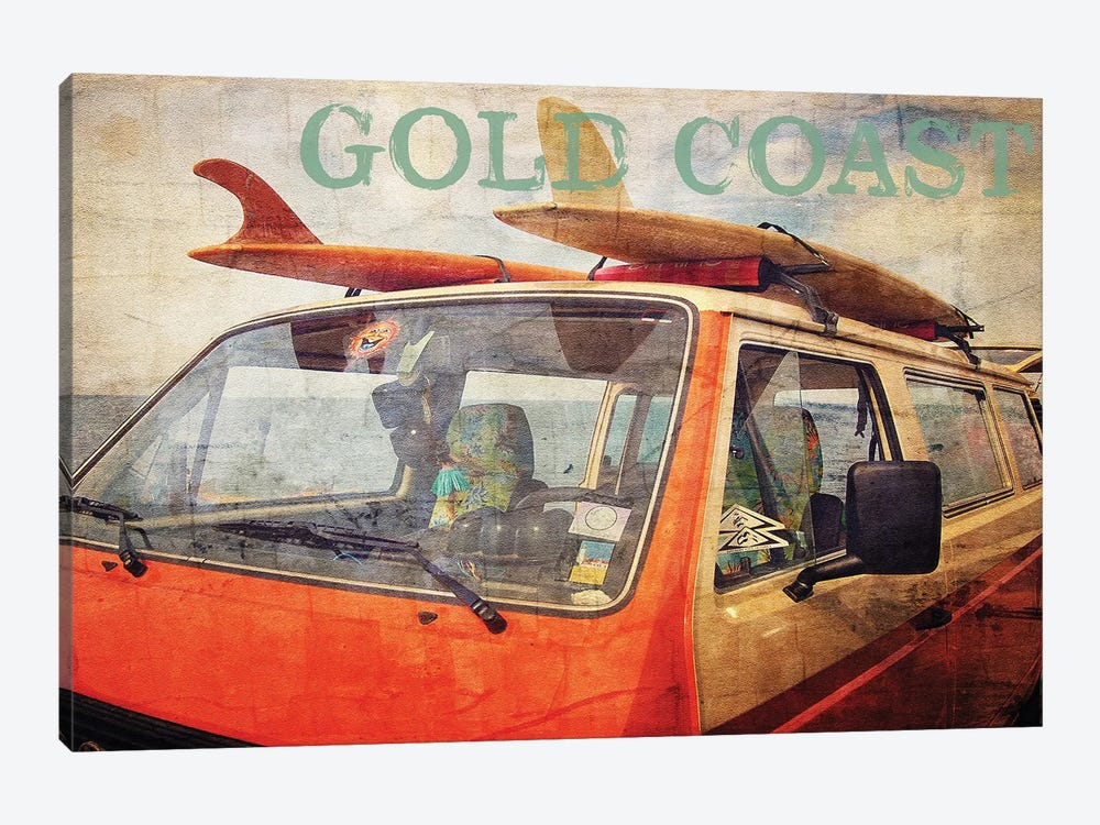 Gold Coast Surf Bus by Graffi*Tee Studios 1-piece Art Print