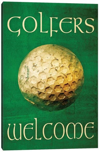 Golfers Welcome Canvas Art Print