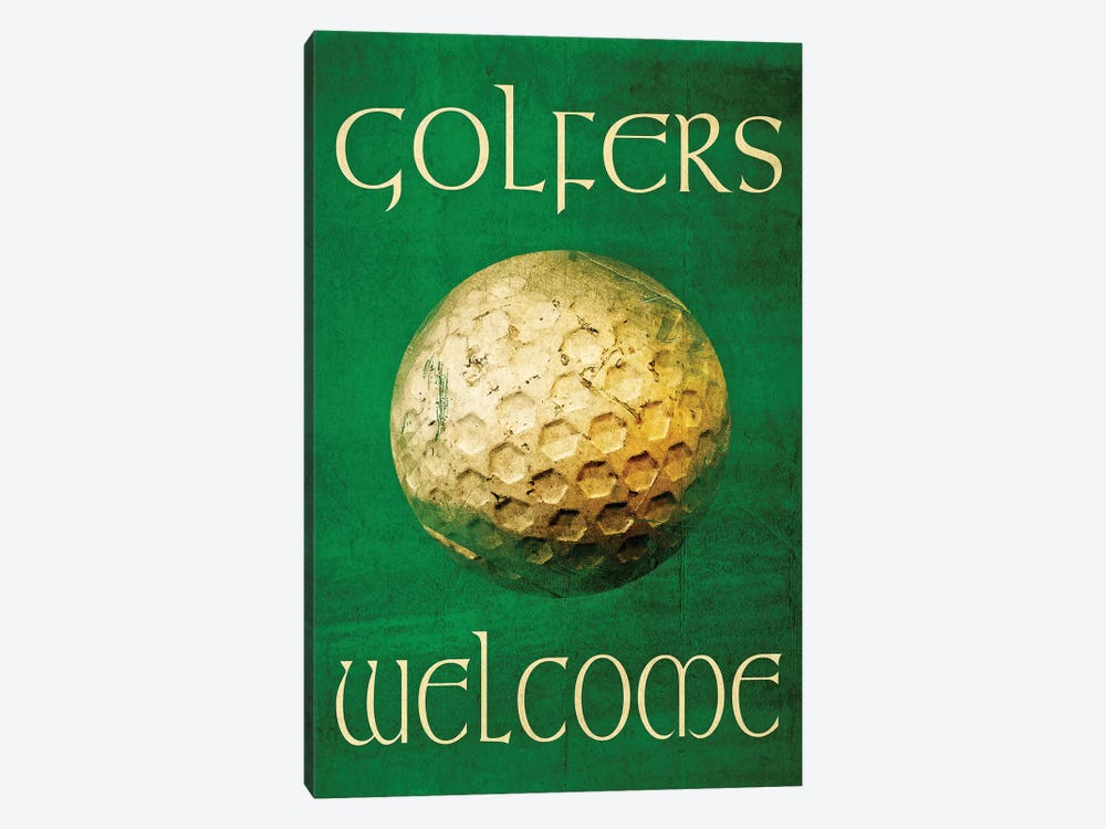 Golfers Welcome by Graffi*Tee Studios 1-piece Canvas Artwork