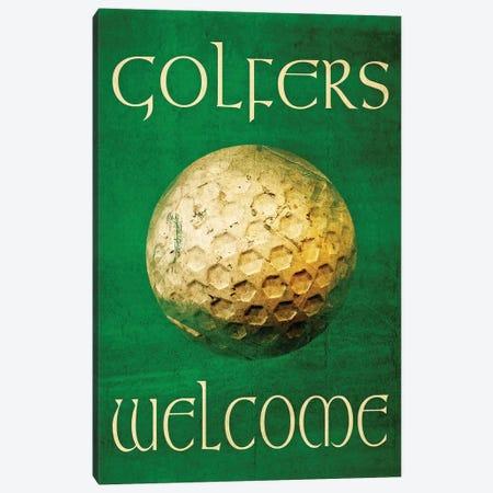 Golfers Welcome Canvas Print #GTS11} by Graffi*Tee Studios Canvas Print