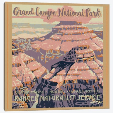 Grand Canyon National Park Canvas Print #GTS12} by Graffi*Tee Studios Art Print