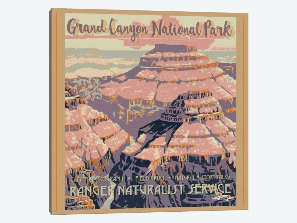 Grand Canyon National Park by Graffi*Tee Studios 1-piece Canvas Print