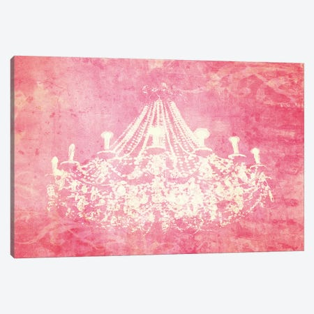 Pink Chandelier Canvas Print #GTS20} by Graffi*Tee Studios Canvas Artwork