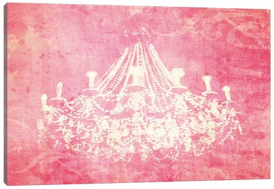 Pink Chandelier Canvas Art Print