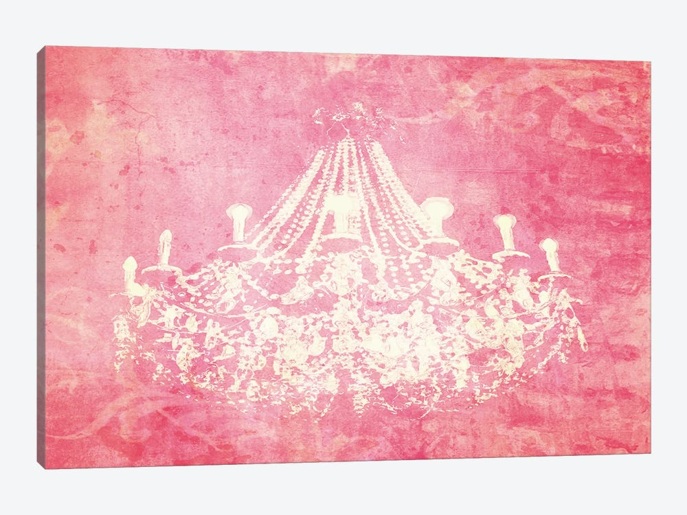 Pink Chandelier by Graffi*Tee Studios 1-piece Canvas Art