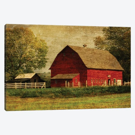 Red Barn Canvas Print #GTS22} by Graffi*Tee Studios Canvas Wall Art