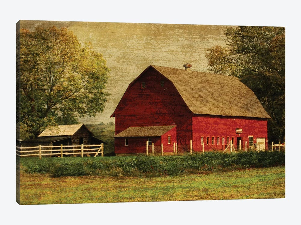 Red Barn 1-piece Canvas Wall Art