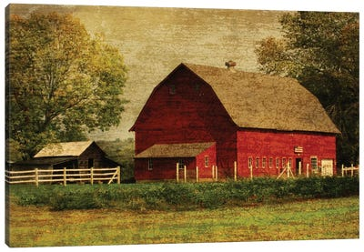 Red Barn Canvas Art Print