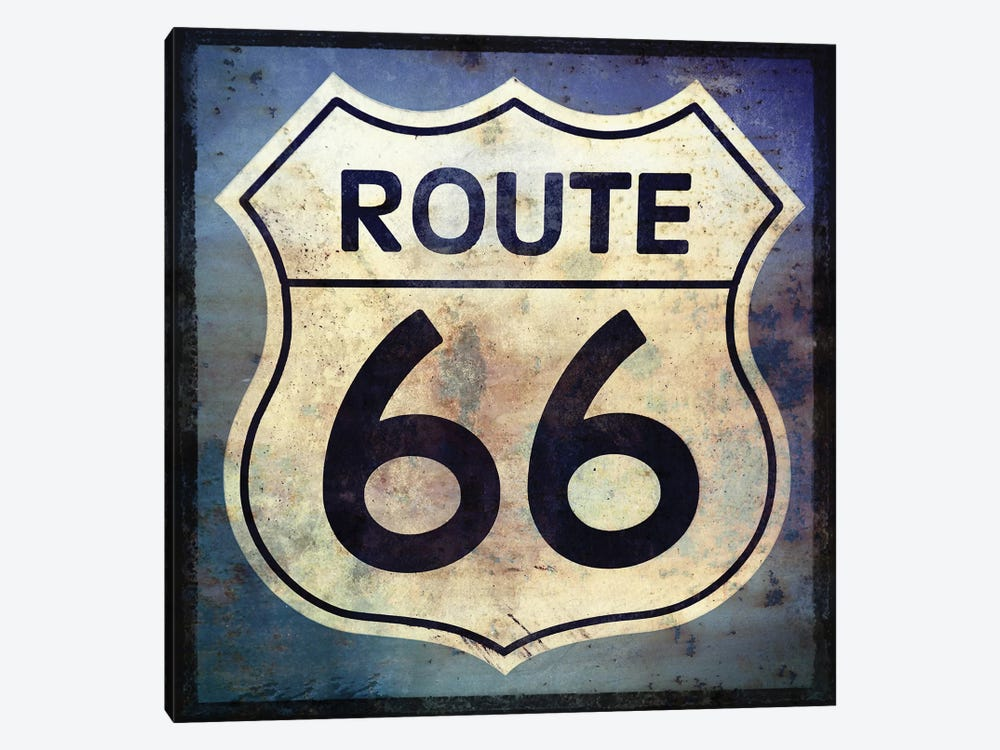 Route 66 Sign by Graffi*Tee Studios 1-piece Art Print