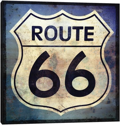 Route 66 Sign Canvas Art Print