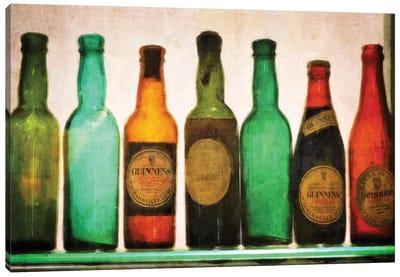 Vintage Guiness Bottles Canvas Art Print