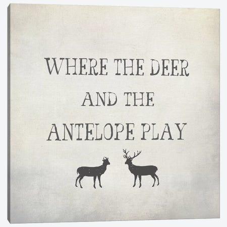 Where The Deer & Antelope 3-Piece Canvas #GTS27} by Graffi*Tee Studios Canvas Art Print