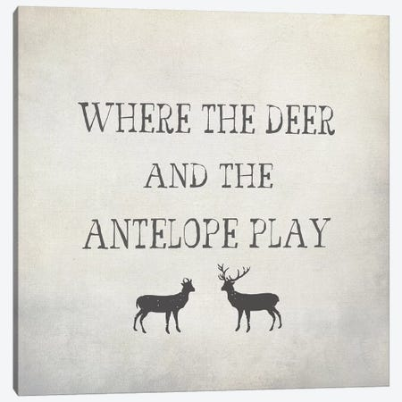 Where The Deer & Antelope Canvas Print #GTS27} by Graffi*Tee Studios Canvas Art Print