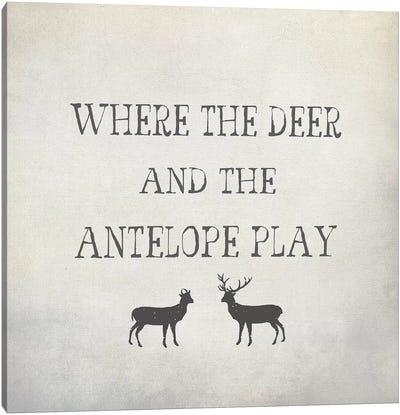 Where The Deer & Antelope Canvas Art Print
