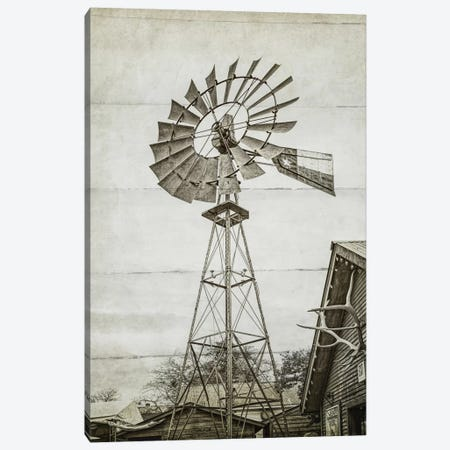 Windmill Waterpump Canvas Print #GTS28} by Graffi*Tee Studios Canvas Art