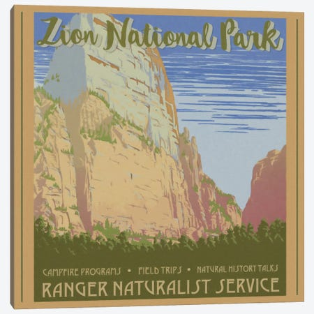 Zion National Park Canvas Print #GTS29} by Graffi*Tee Studios Canvas Artwork