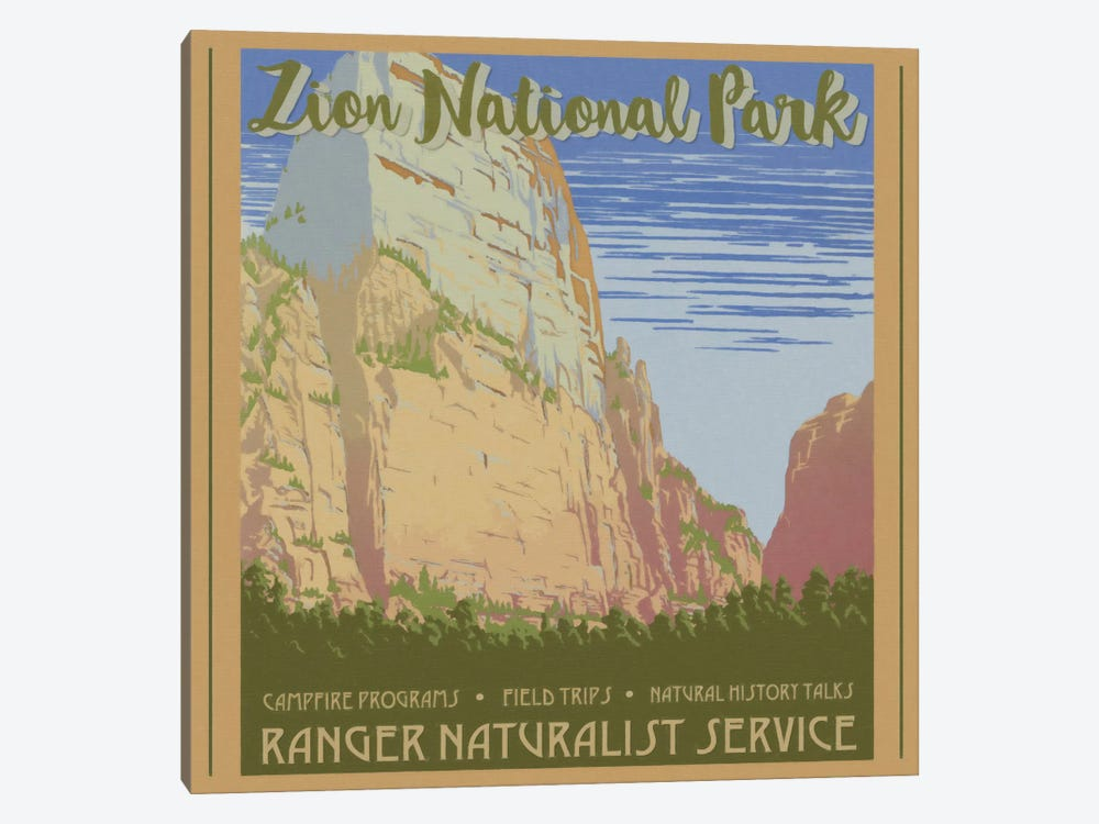 Zion National Park by Graffi*Tee Studios 1-piece Canvas Art Print