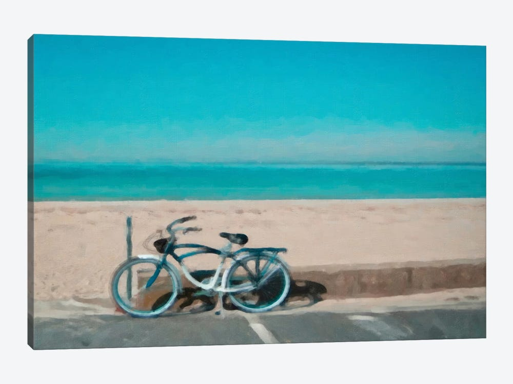 Bike to The Beach 1-piece Canvas Artwork