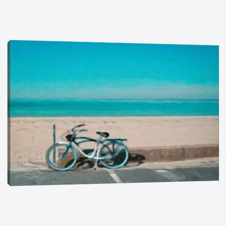 Bike to The Beach Canvas Print #GTS2} by Graffi*Tee Studios Canvas Wall Art