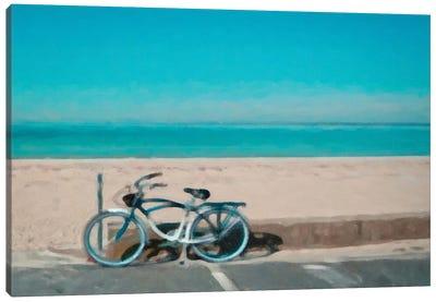 Bike to The Beach Canvas Art Print
