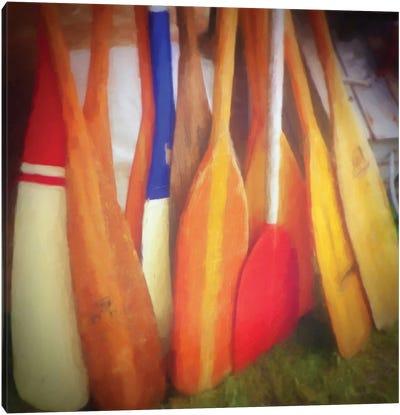 Boat Oars Canvas Art Print