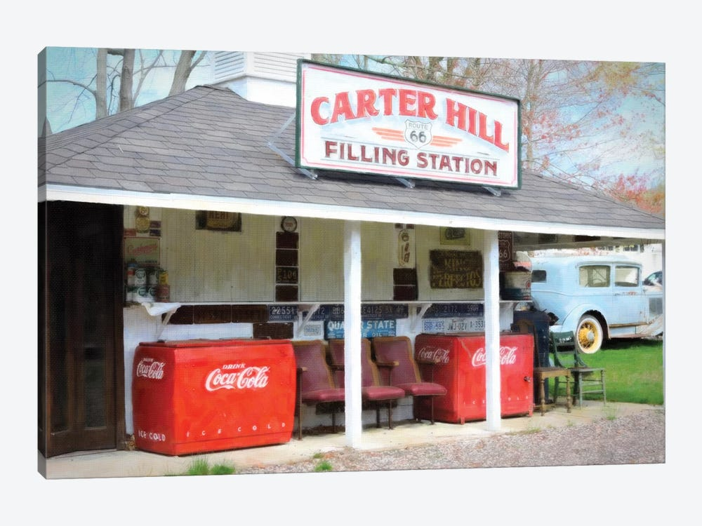 Filling Station by Graffi*Tee Studios 1-piece Canvas Print