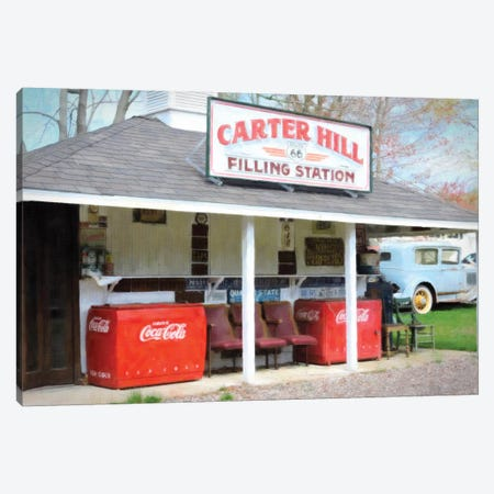 Filling Station 3-Piece Canvas #GTS7} by Graffi*Tee Studios Canvas Art Print