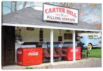 Filling Station Canvas Art Print