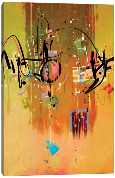 Saharan writings I Canvas Art Print