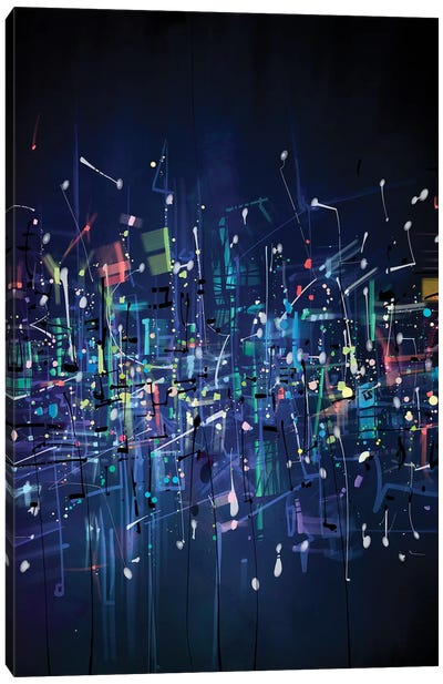 Urban Fireflies Canvas Art Print