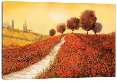 La Collina Dei Papaveri Canvas Art Print