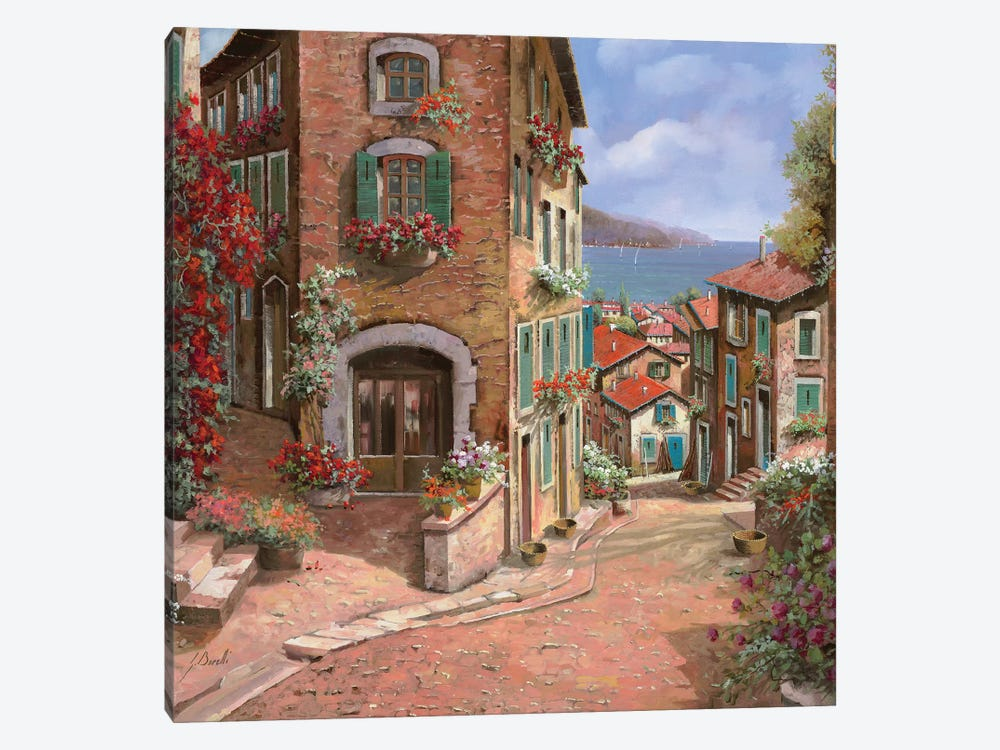 La Discesa Al Mare by Guido Borelli 1-piece Art Print