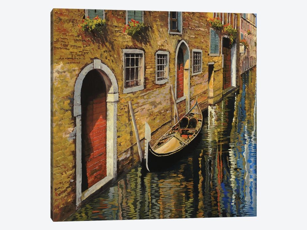 La Gondola Sul Canale by Guido Borelli 1-piece Canvas Art