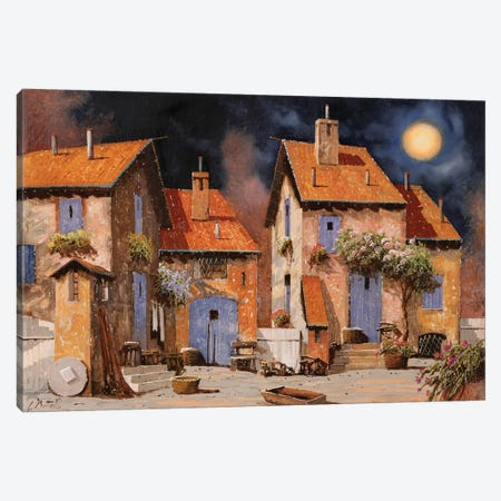 La Luna Gialla Canvas Print #GUB108} by Guido Borelli Canvas Print